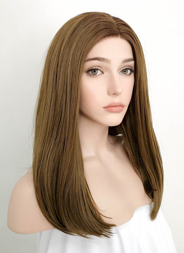 "16"" Straight Brown Lace Front Synthetic Wig LF870 - Wig Is Fashion"