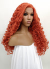 Orange Red Spiral Curly Lace Front Synthetic Wig LFB663J - Wig Is Fashion
