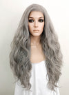 Grey Wavy Lace Front Synthetic Wig LFK5513