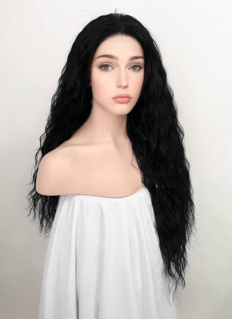 Black Wavy Lace Front Synthetic Wig LFK5535