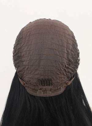 Black Straight Lace Front Synthetic Wig LFM002