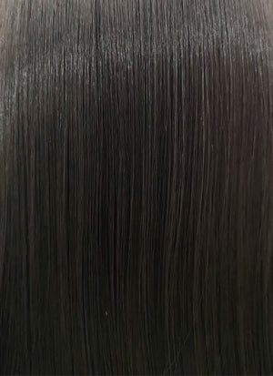 Straight Natural Black Lace Front Synthetic Wig LF003 - Wig Is Fashion