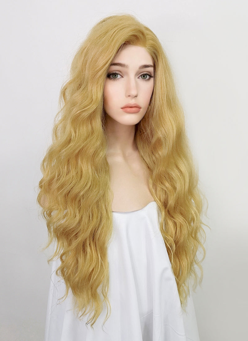 Blonde Wavy Lace Front Synthetic Wig LFT003
