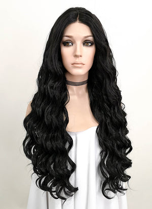 Black Wavy Lace Front Synthetic Wig LNK005 - Wig Is Fashion