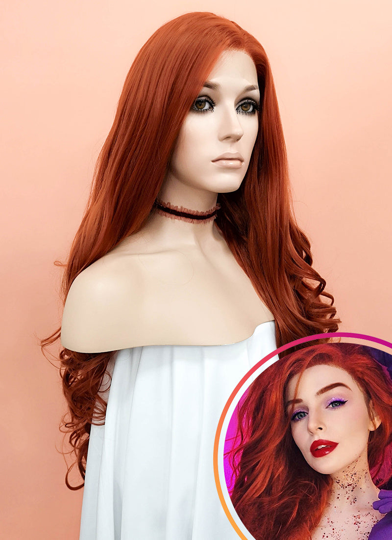 Auburn Wavy Lace Front Synthetic Wig LW085A - Wig Is Fashion