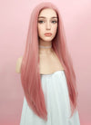 Pastel Pink Straight Lace Front Synthetic Wig LW238B - Wig Is Fashion