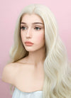 Wavy Platinum Blonde Lace Front Synthetic Wig LW667F - Wig Is Fashion