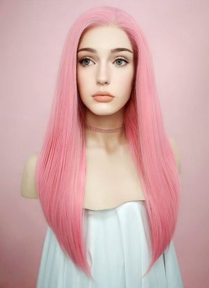Straight Pink Lace Front Synthetic Wig LW769C - Wig Is Fashion