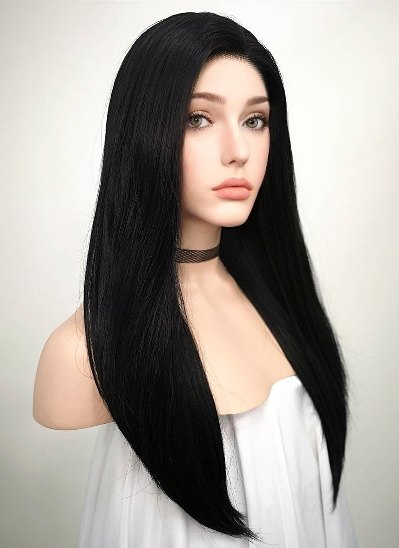 Straight Black Lace Wig CLW769 (Customisable) - Wig Is Fashion