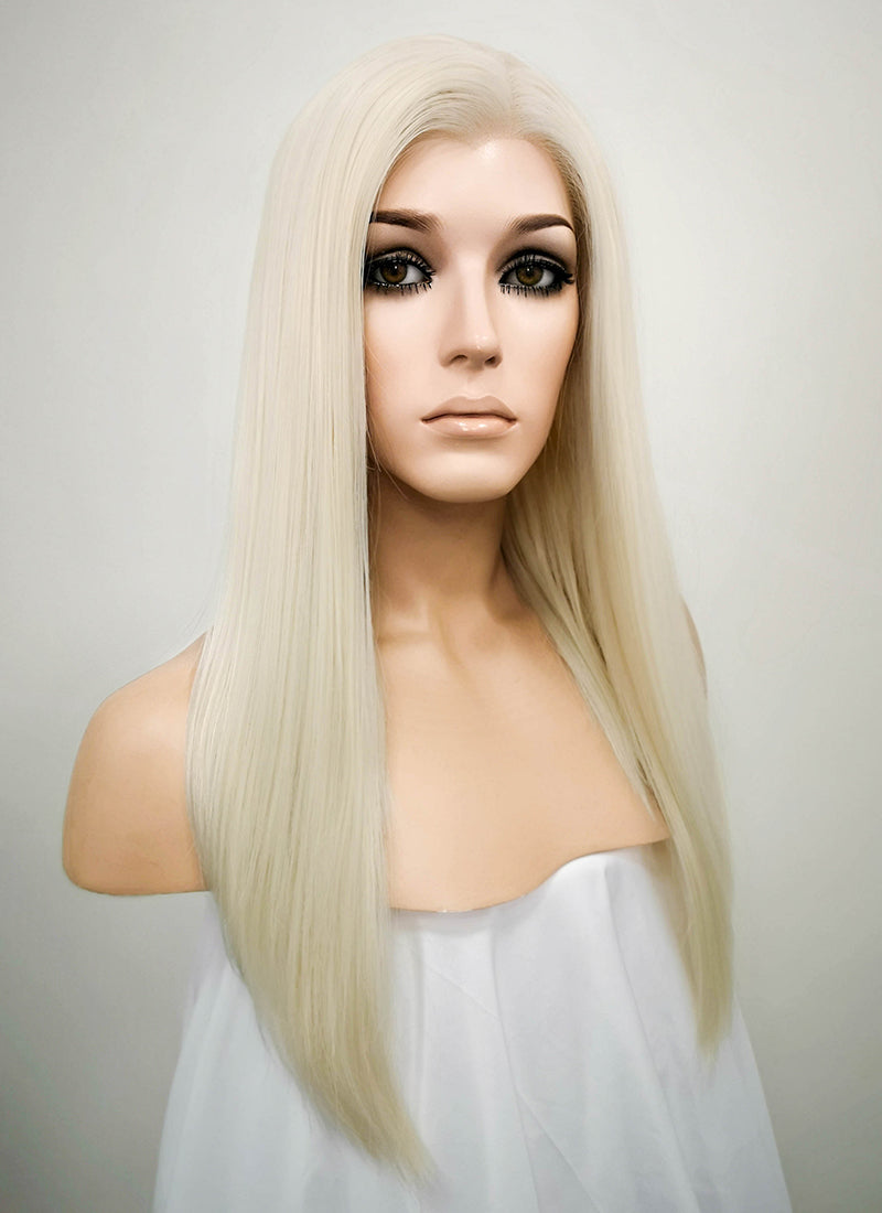 Light Blonde Straight Bob Lace Front Synthetic Wig LW836D - Wig Is Fashion