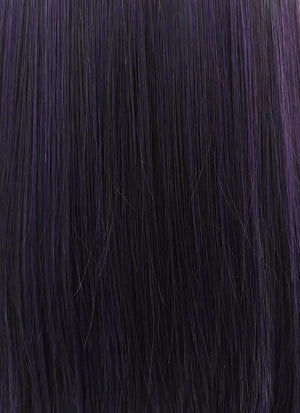 Straight Dark Purple Bob Lace Wig CLW836 (Customisable) - Wig Is Fashion