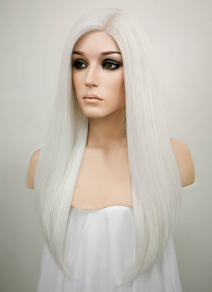 White Mono Parted Glueless Lace Wig MP006 - Wig Is Fashion