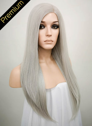 Grey Mono Parted Glueless Lace Wig MP008 - Wig Is Fashion