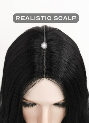 Black Wavy Synthetic Wig NL013