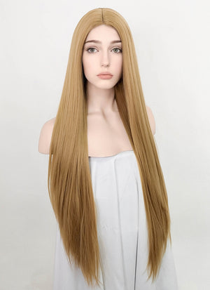 Dark Flaxen Straight Synthetic Wig NL023