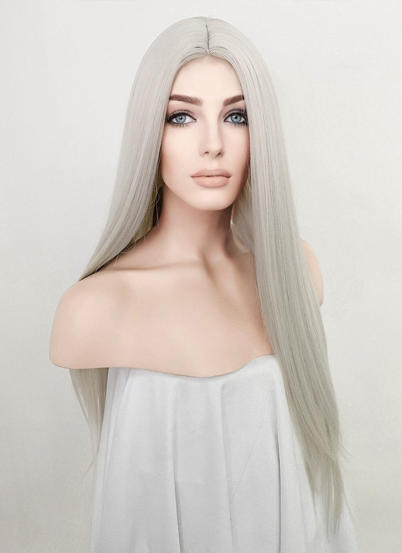 Light Grey Straight Synthetic Wig NL033