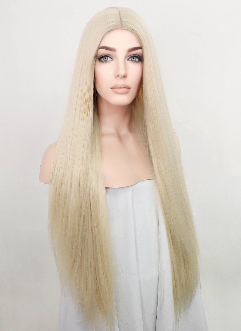 Platinum Blonde Straight Synthetic Wig NL035