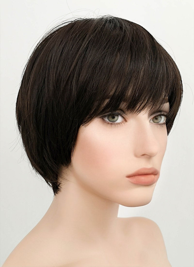 Black Straight Pixie Synthetic Wig NS005 - Wig Is Fashion