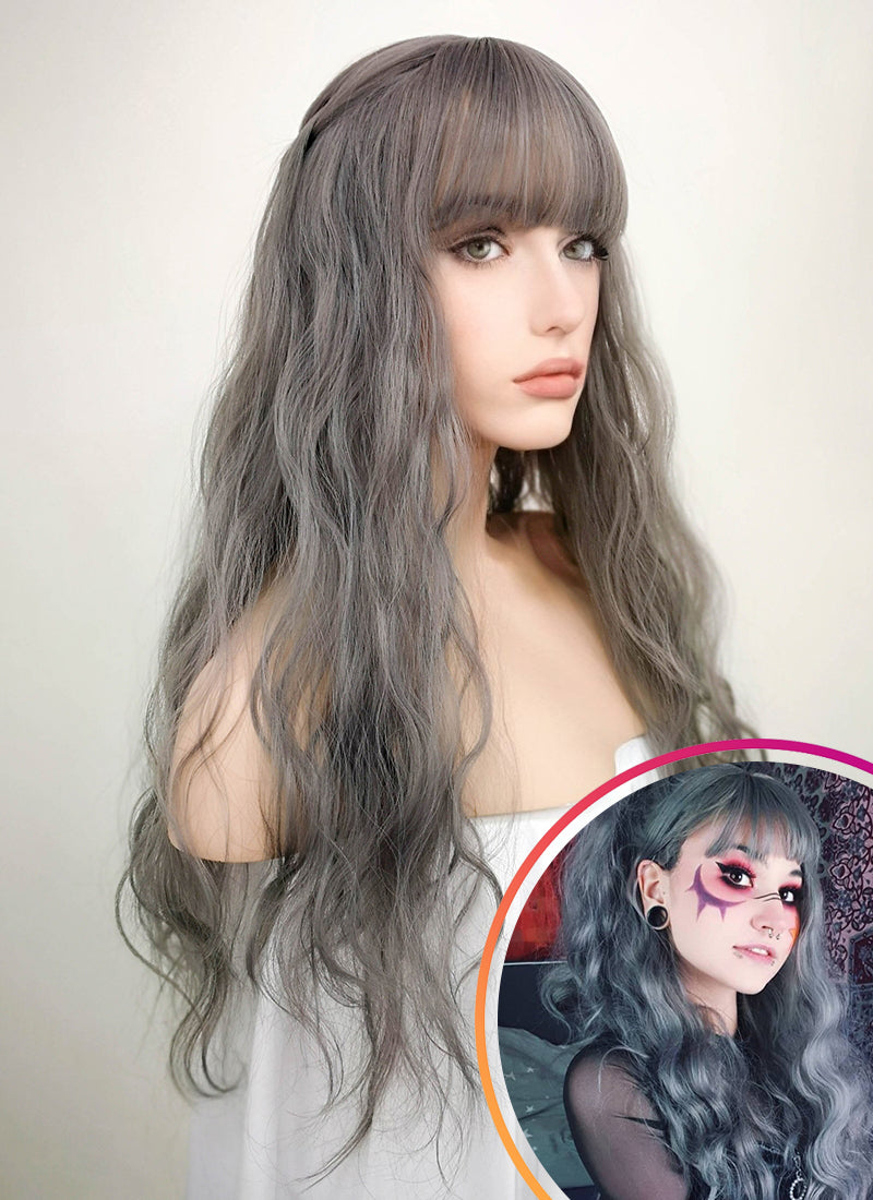 Grey Wavy Synthetic Wig NS027 - Wig Is Fashion