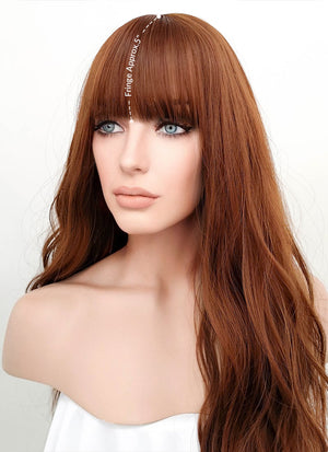 Auburn Wavy Synthetic Wig NS037 - Wig Is Fashion