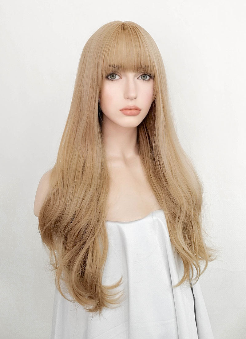 Golden Blonde Wavy Synthetic Wig NS045 - Wig Is Fashion