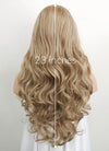 Ash Blonde Wavy Synthetic Wig NS061 - Wig Is Fashion