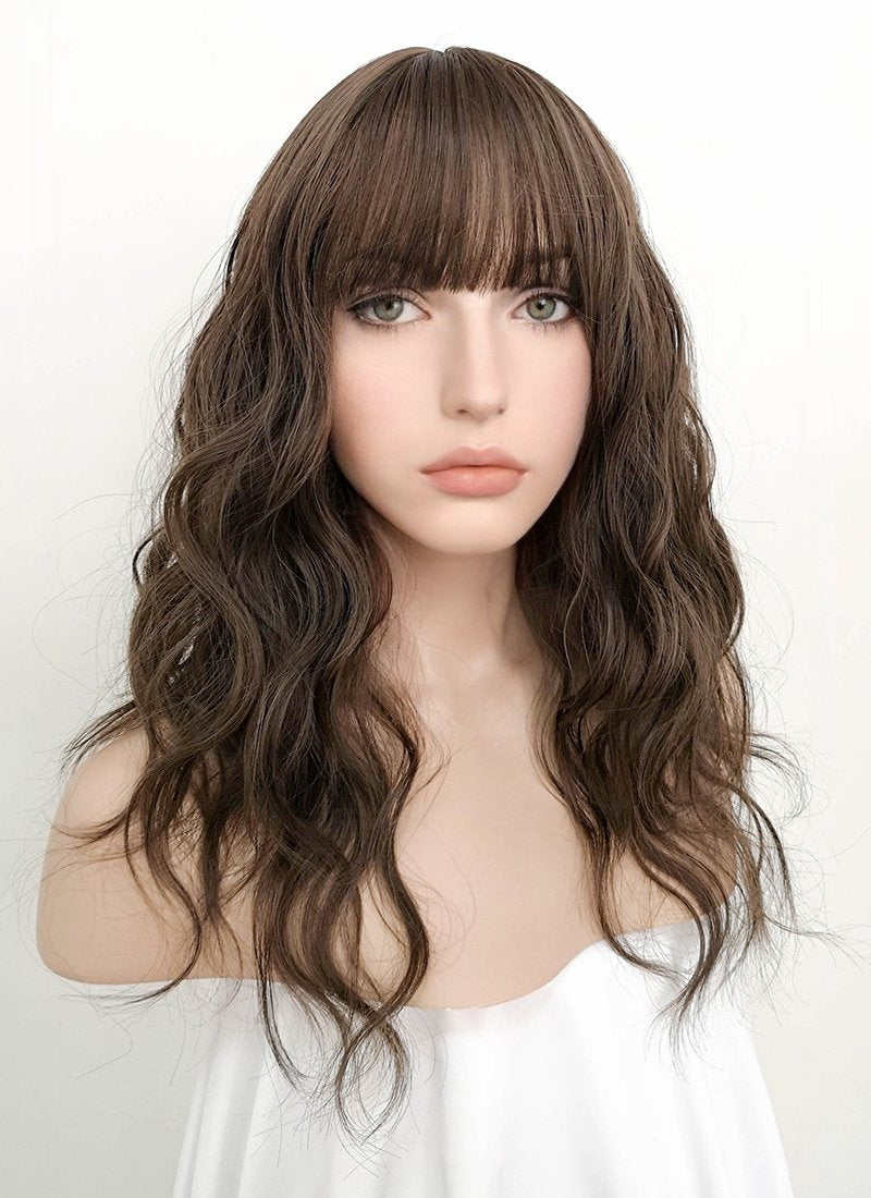 Brunette Wavy Synthetic Wig NS065 - Wig Is Fashion