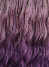 Two Tone Purple With Dark Roots Wavy Synthetic Wig NS068 - Wig Is Fashion