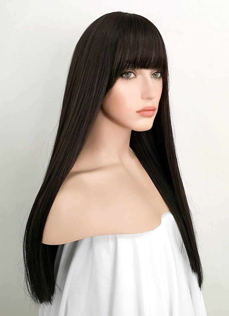 Brunette Straight Synthetic Wig NS070