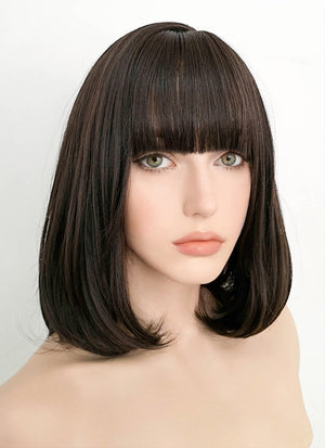 Brunette Straight Bob Synthetic Wig NS077