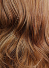 Chestnut Brown Wavy Synthetic Wig NS087