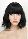 Black Wavy Bob Synthetic Wig NS152