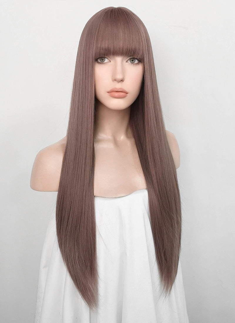Ash Purple Straight Synthetic Wig NS156