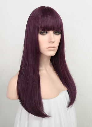 Dark Purple Straight Synthetic Wig NS178