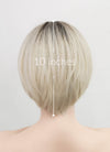 Light Blonde With Dark Roots Straight Pixie Synthetic Wig NS214