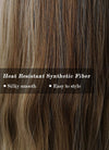 Two Tone Brown Wavy Synthetic Wig NS154