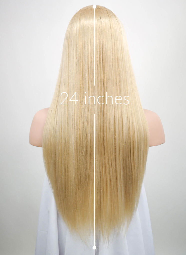 "24"" Straight Mixed Blonde Synthetic Wig NW007 - Wig Is Fashion"