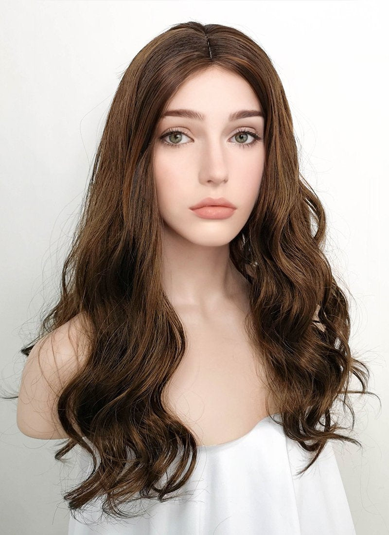 Brunette Wavy Synthetic Wig NW066 - Wig Is Fashion