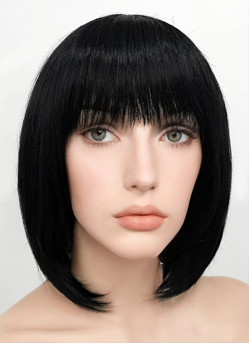 Black Straight Bob Synthetic Wig NW093 - Wig Is Fashion