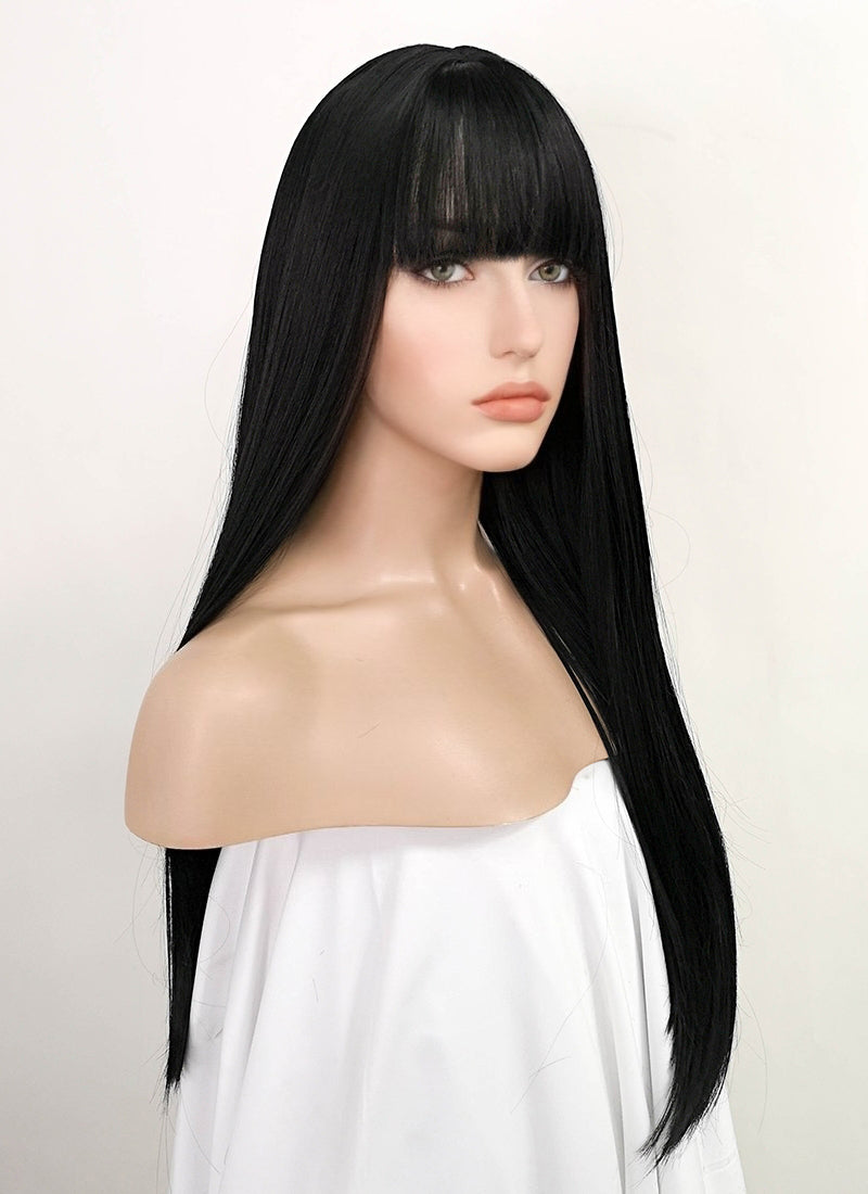 Straight Jet Black Synthetic Wig TBZ871 - Wig Is Fashion