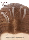 Chestnut Brown Straight Lace Front Synthetic Wig LF005 - Wig Is Fashion