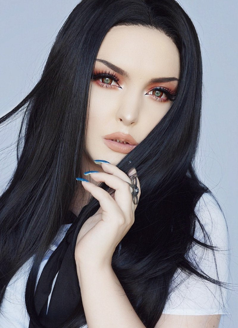 Straight Black Lace Front Synthetic Wig LW769