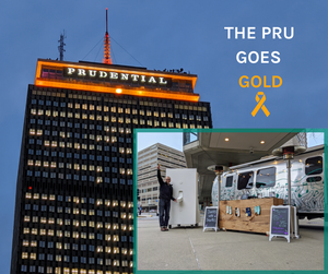 the Pru goes gold in honor of pediatric cancer awareness