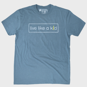 live like a kid tee - mens