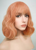 Pale Pink Wavy Bob Synthetic Wig CM197 - Wig Is Fashion