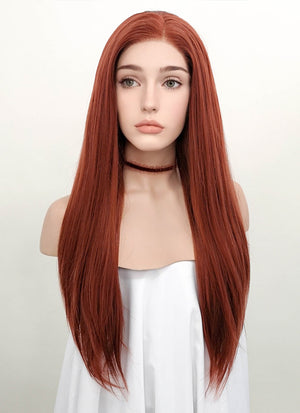 Auburn Straight Lace Front Synthetic Wig LF009 - Wig Is Fashion