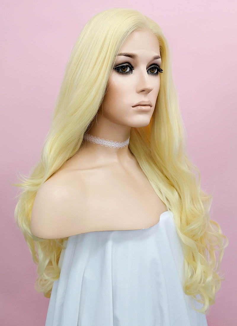 Wavy Golden Blonde Lace Front Synthetic Wig LF080 - Wig Is Fashion