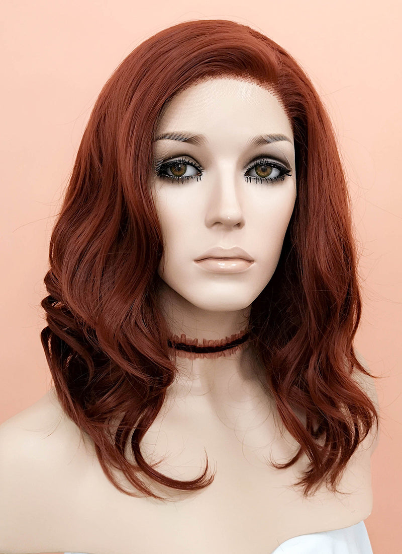 Auburn Wavy Lace Front Synthetic Wig LF1257