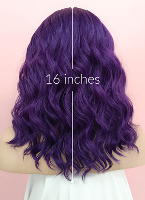 Purple Wavy Lace Front Synthetic Wig LF1288 - Wig Is Fashion