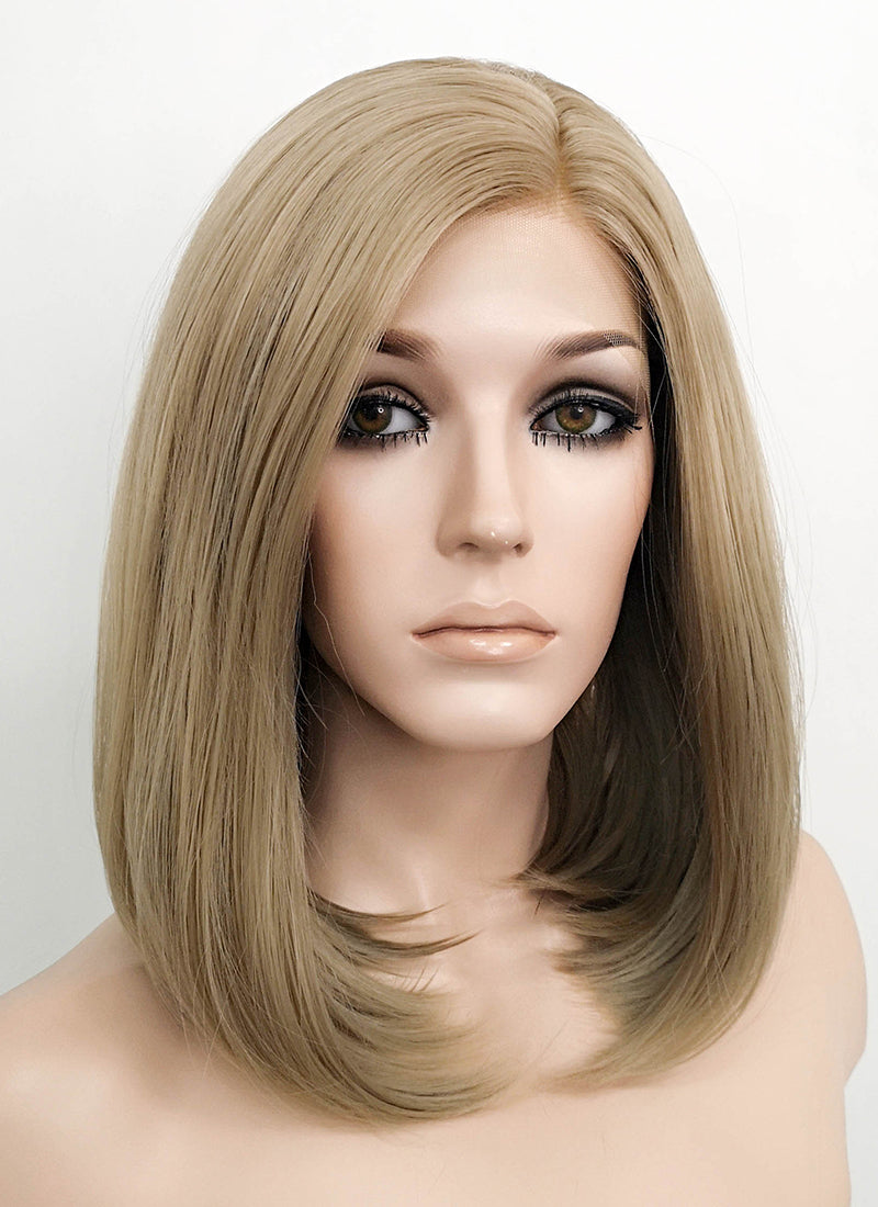 Blonde Straight Bob Lace Front Synthetic Wig LF1296 - Wig Is Fashion